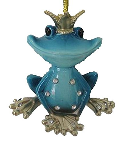 December Diamonds Frog Prince Blue Ornament