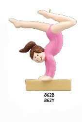 Gymnast Gymnastics Personalized Christmas Ornament-free Personalizing-4″ Tall