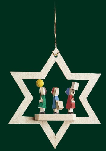 Hanging Christmas Tree Star Shaped Ornament Lantern Kids, 3.2 Inches