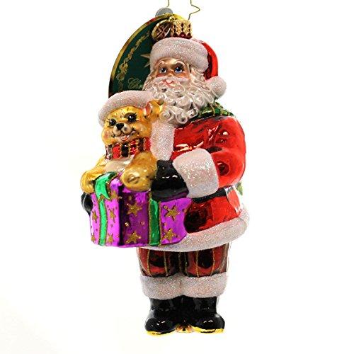 Christopher Radko Precious Teddy Pediatric Cancer Charity Awareness Christmas Ornament