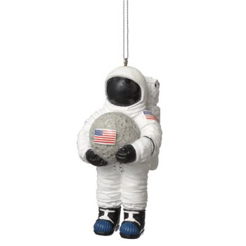 Astronaut Holding Moon Ornament