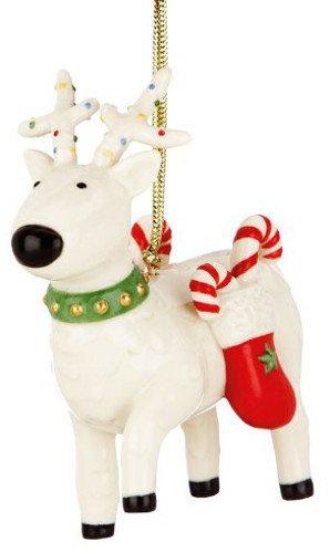 Lenox Festive Friends Reindeer Ornament