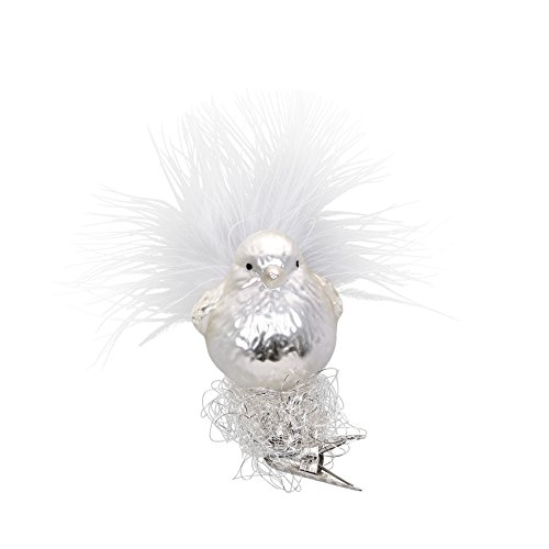 Silver-Baby-Bird, #1-298-15, from the 2015 Winter Palace Collection by Inge-Glas Manufaktur; Gift Box Included