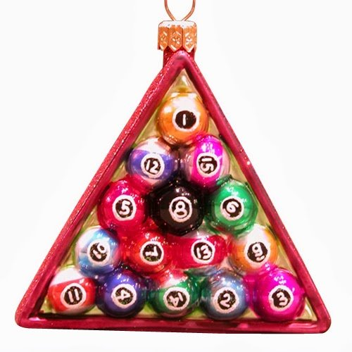 Ornaments to Remember: POOL RACK Christmas Ornament