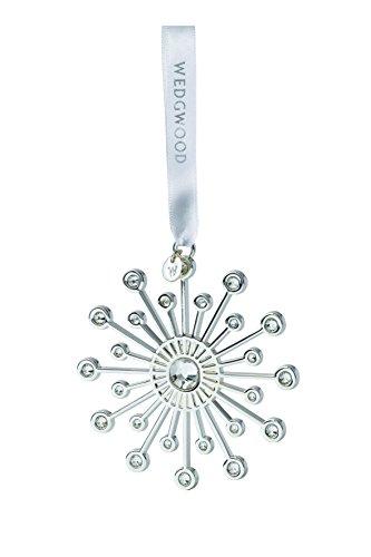 Wedgwood Crystal Star Christmas Ornament, Silver