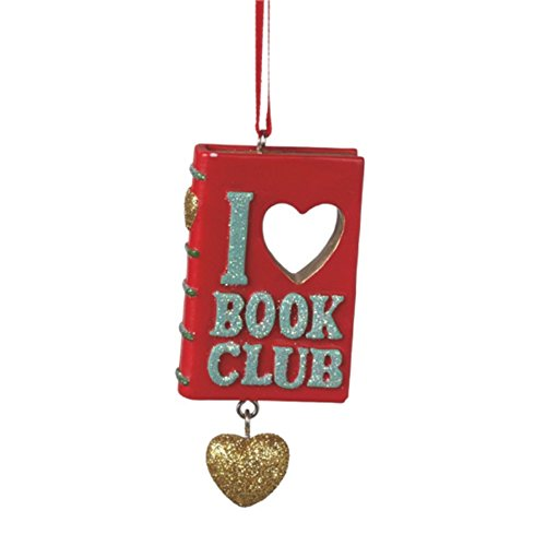 I Heart Book Club Christmas Ornament