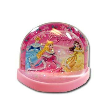Disney Princess Lenticular Plastic Snowglobe