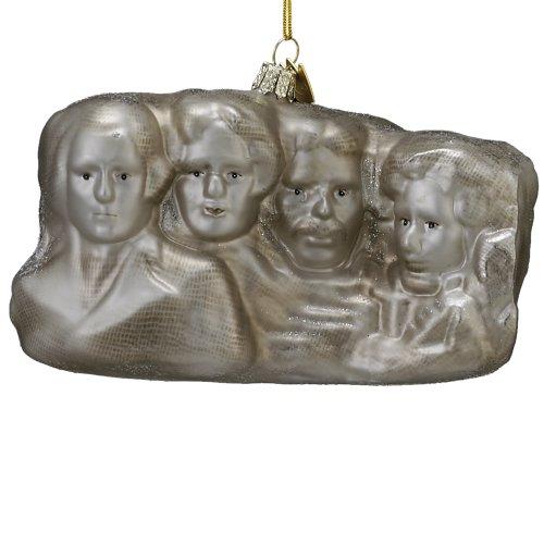 Kurt Adler Noble Gems Glass Rushmore Ornament, 5-Inch