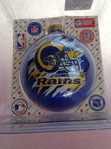 "St Louis Rams 2 5/8"" Painted Round Helmet Christmas Tree Ornament"
