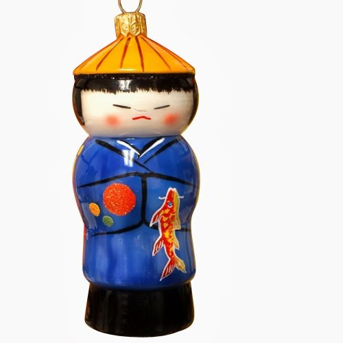 Ornaments to Remember: KOKESHI DOLL Christmas Ornament (Boy)