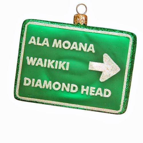 Ornaments to Remember: HAWAII (ALA MOANO, WAIKKI, DIAMOND HEAD) Christmas Ornament