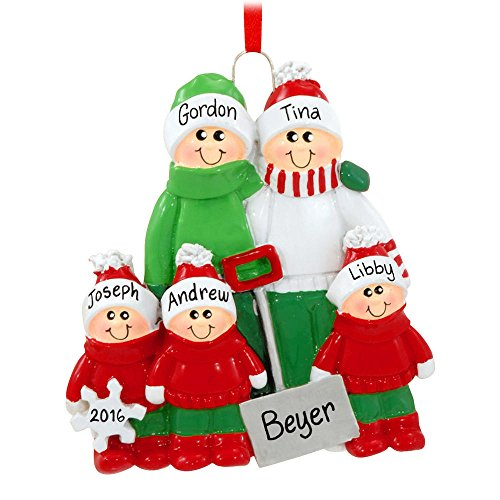 2152 Snow Shovel Family of 5 Ornament