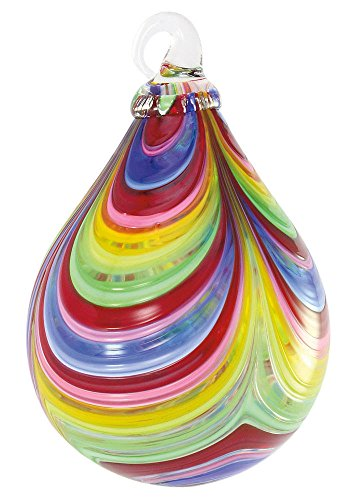 Glass Eye Studio Designer Carnival Raindrop Ornament