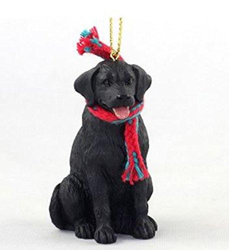 Labrador Retriever (Black) with Scarf Christmas Ornament (Large 3 inch version) Dog