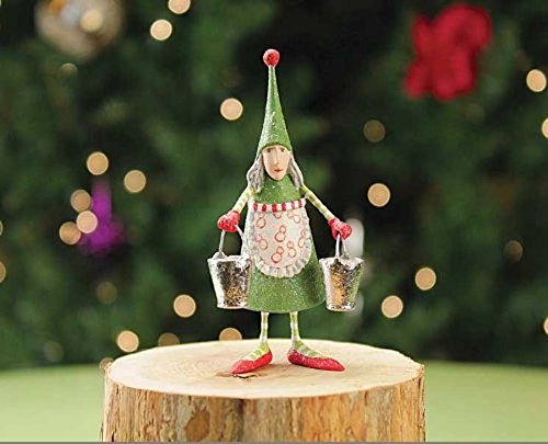 3.5″ Patience Brewster Krinkles Mini Maid A Milking 12 Days of Christmas Ornament