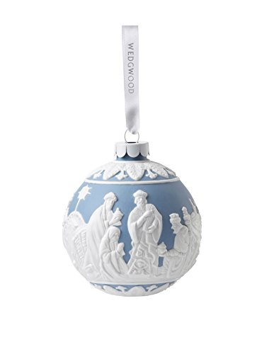 Wedgwood Three Wise Men Christmas Ornament, Blue
