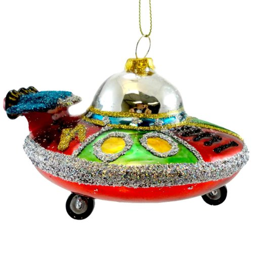 Holiday Ornament SPACE ORNAMENT FH0240 SHIP Spaceship Rocket Christmas New