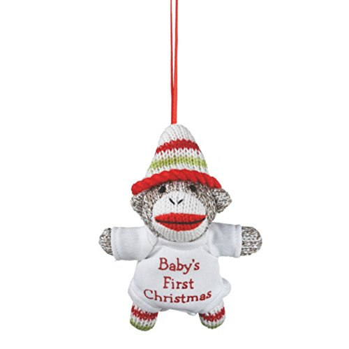 Itty Bitty Baby's First Christmas Sock Monkey Ornament