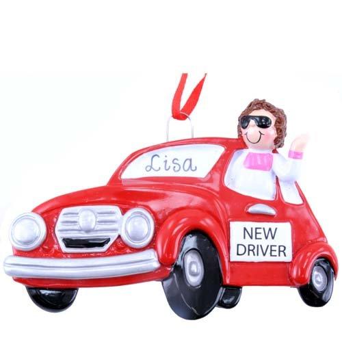 New Driver Girl Ornament