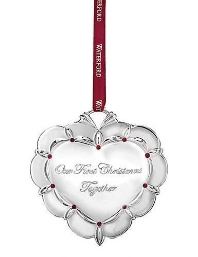 Waterford 2015 Our First Christmas Together Ornament, Dated 2015