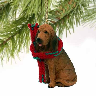 1 X Bloodhound Miniature Dog Ornament