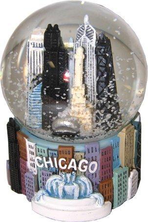 Chicago Snowglobe, Chicago City Skyline Snowglobe, Chicago Souvenir snowglobe
