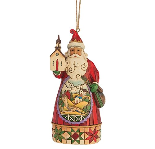 Enesco Jim Shore Church Scene Santa Ornament