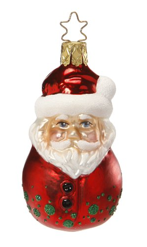 Santa Bobble-Head, #1-022-13, by Inge-Glas of Germany