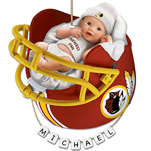 NFL Washington Redskins Personalized Baby's First Christmas Ornament by The Bradford Exchange