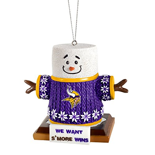 2015 NFL Football Team Logo Smores Holiday Tree Ornament – Pick Team (Minnesota Vikings)