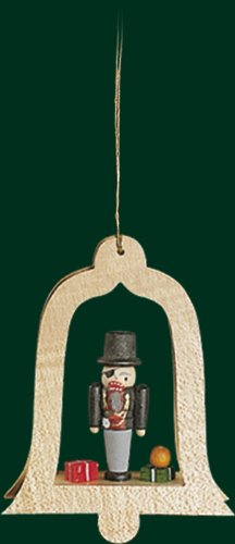 Hanging Christmas Tree Bell Shaped Ornament Throttle Meier, 3.4 Inches