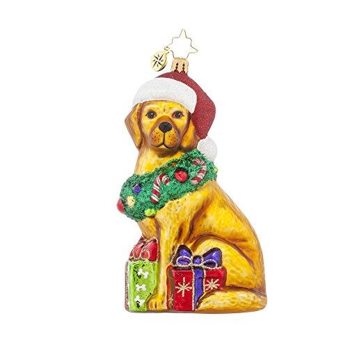 Christopher Radko Christmas Retriever Dog Ornament