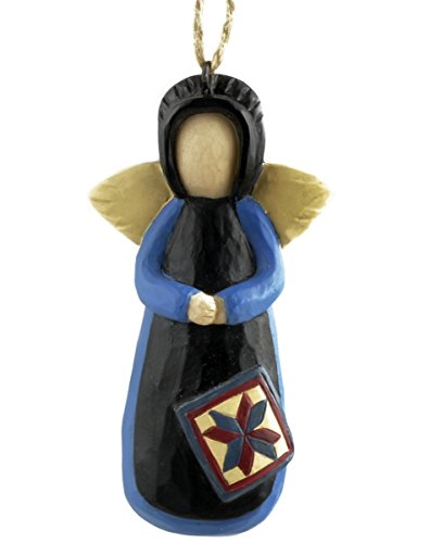 Amish Angel with Quilt Square Ornament