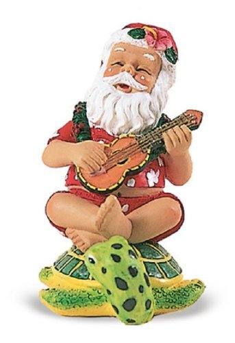 Island Heritage Strumming Santa on Honu Ornament by Island Heritage