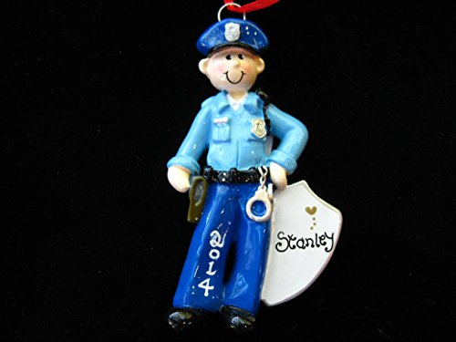 Policeman Personalized Christmas Ornament -free Personalizing-