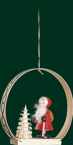 Hanging Christmas Tree Ornament Santa Claus, 2.8 Inches