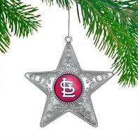 MLB Licensed Silver Star Ornament (St. Louis Cardinals)