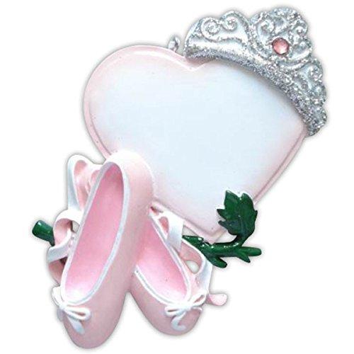 Ballerina Princess Personalized Christmas Ornamen
