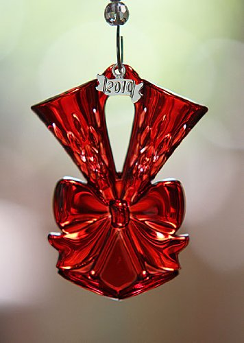 Waterford Crystal 2010 Lismore Ruby Red Toasting Flute Ornament