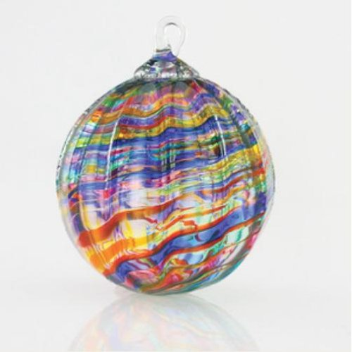 Glass Eye Studio Classic Rainbow Kaleidoscope Ornament