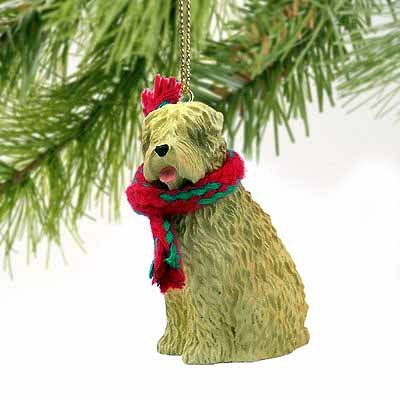 1 X Soft Coated Wheaten Miniature Dog Ornament