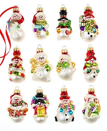 Holiday Lane Christmas Ornaments, Box Of 12 Mini Snowmen