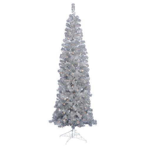 Vickerman B103746 Christmas Ornaments, 4.5′, Silver