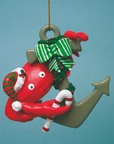 Crab w/ Anchor Ornament
