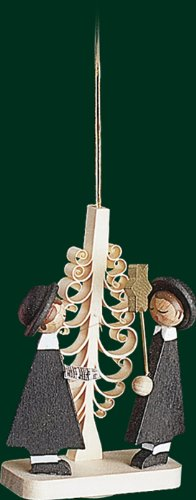 Hanging Christmas Tree Ornament Carolers with Star, 2.8 Inches