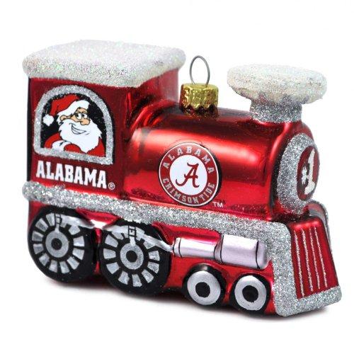 NCAA Alabama Crimson Tide Blown Glass Train Ornament