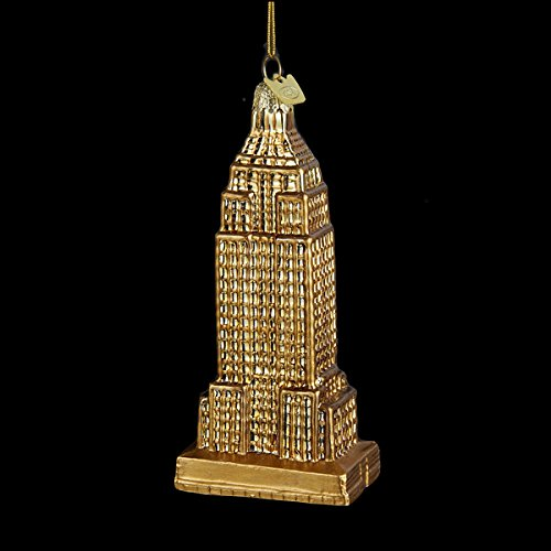 Noble Gems Collection Gold Glass Empire State Building Ornament