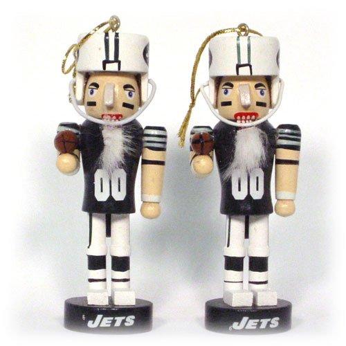 New York Jets Mini Wooden Nutcracker Two-Piece Ornament Set