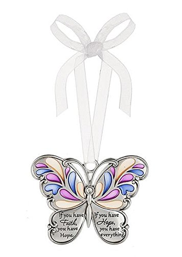 Ganz Butterfly Wishes Colored Ornament – If you have Faith, you have Hope. If you have Hope, you have everything.