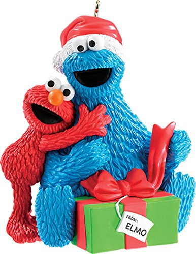 2015 Sesame Street Elmo with Cookie Monster Carlton Ornament